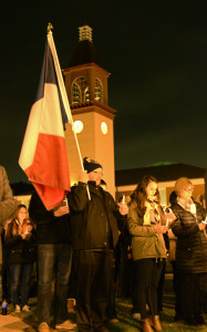 Candlelight vigil in support of Paris