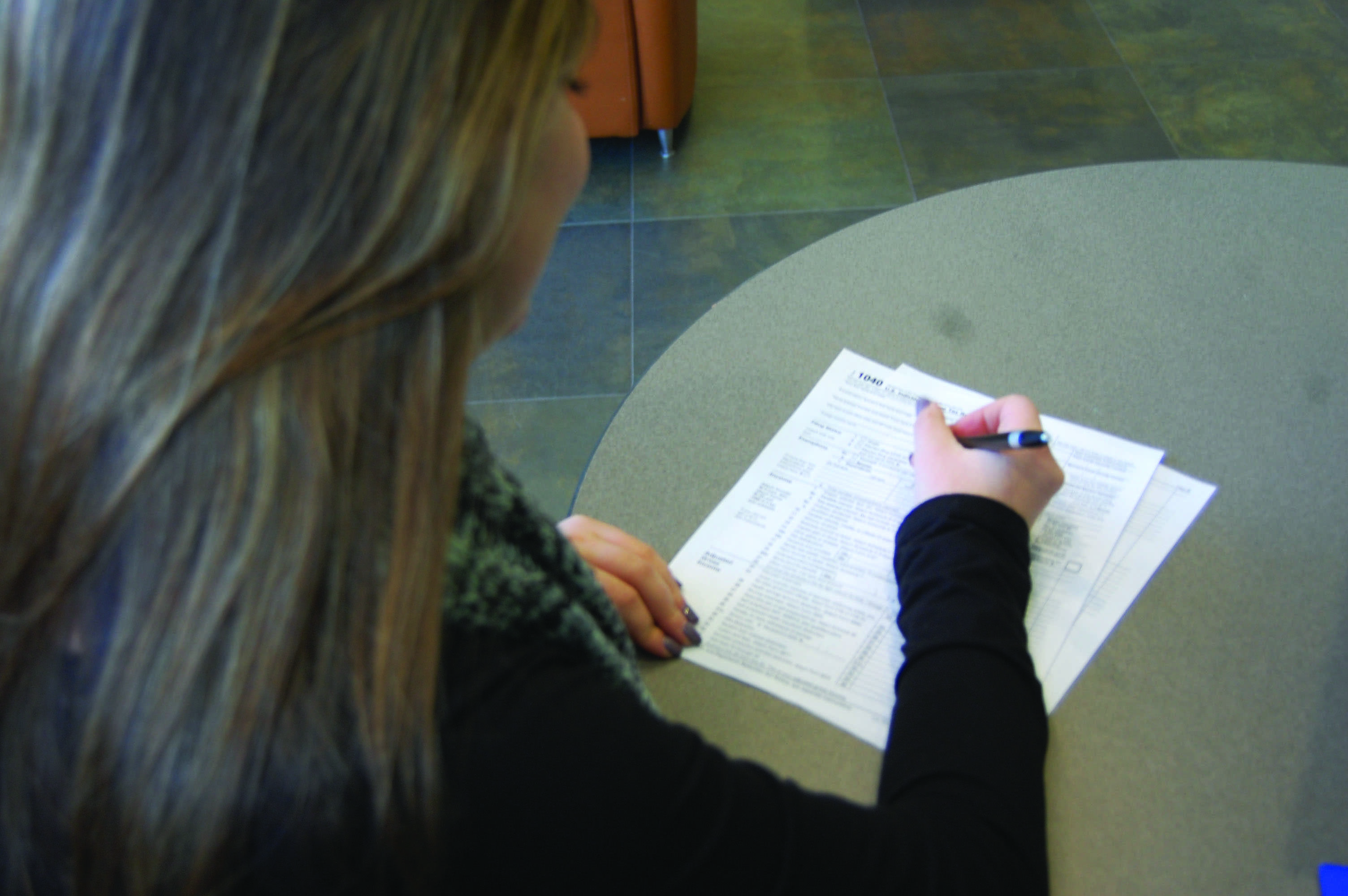 Students can have their tax returns done during the month of February.