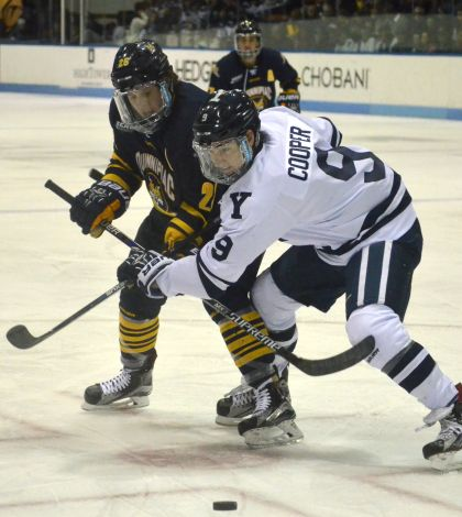 Preview: No. 1 men's ice hockey preps for regular season finale vs. rival Yale