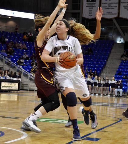 Women's basketball overcomes deficit, tops MAAC-leading Iona