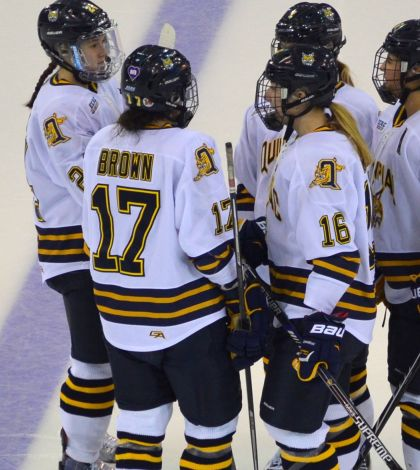 Special bond between West, Brown helps women's ice hockey