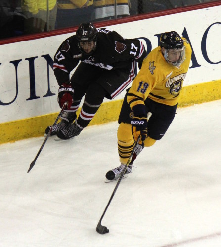 No. 1 men's ice hockey routs Brown