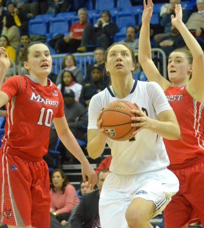 Women's basketball beats Marist 76-71