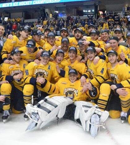 Men's ice hockey tops UMass Lowell in East Regional Final