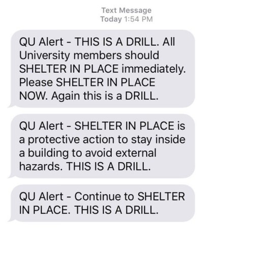 University holds shelter-in-place drill