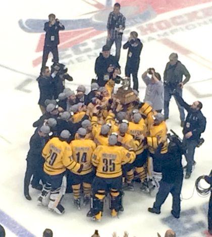 Men's ice hockey tops Harvard in ECAC Tournament Championship