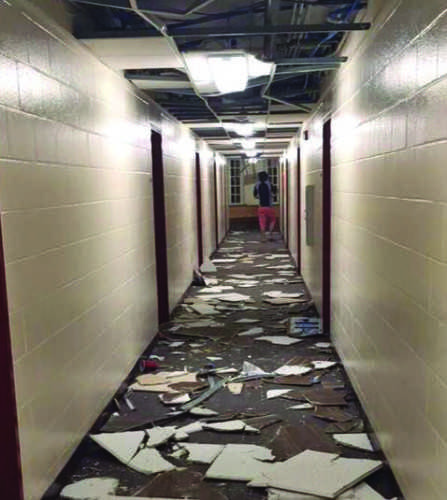 Commons, Complex damaged prior to three-day weekend
