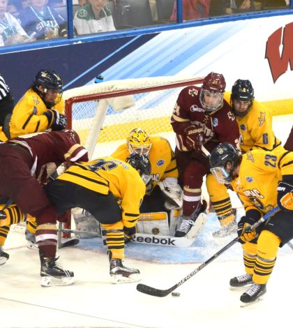 Strong penalty kill, goaltending guide men's ice hockey to NCAA title game