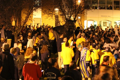 Students charged, suspended after Frozen Four celebration