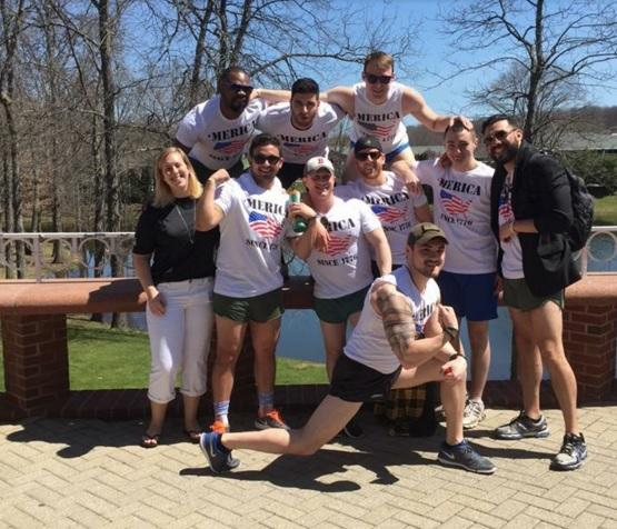 """Members of the Student Veterans Organization during last year's """"Operation Barbecue."""""""