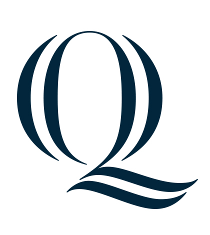 The Q is the most prominent piece of the new brand identity.