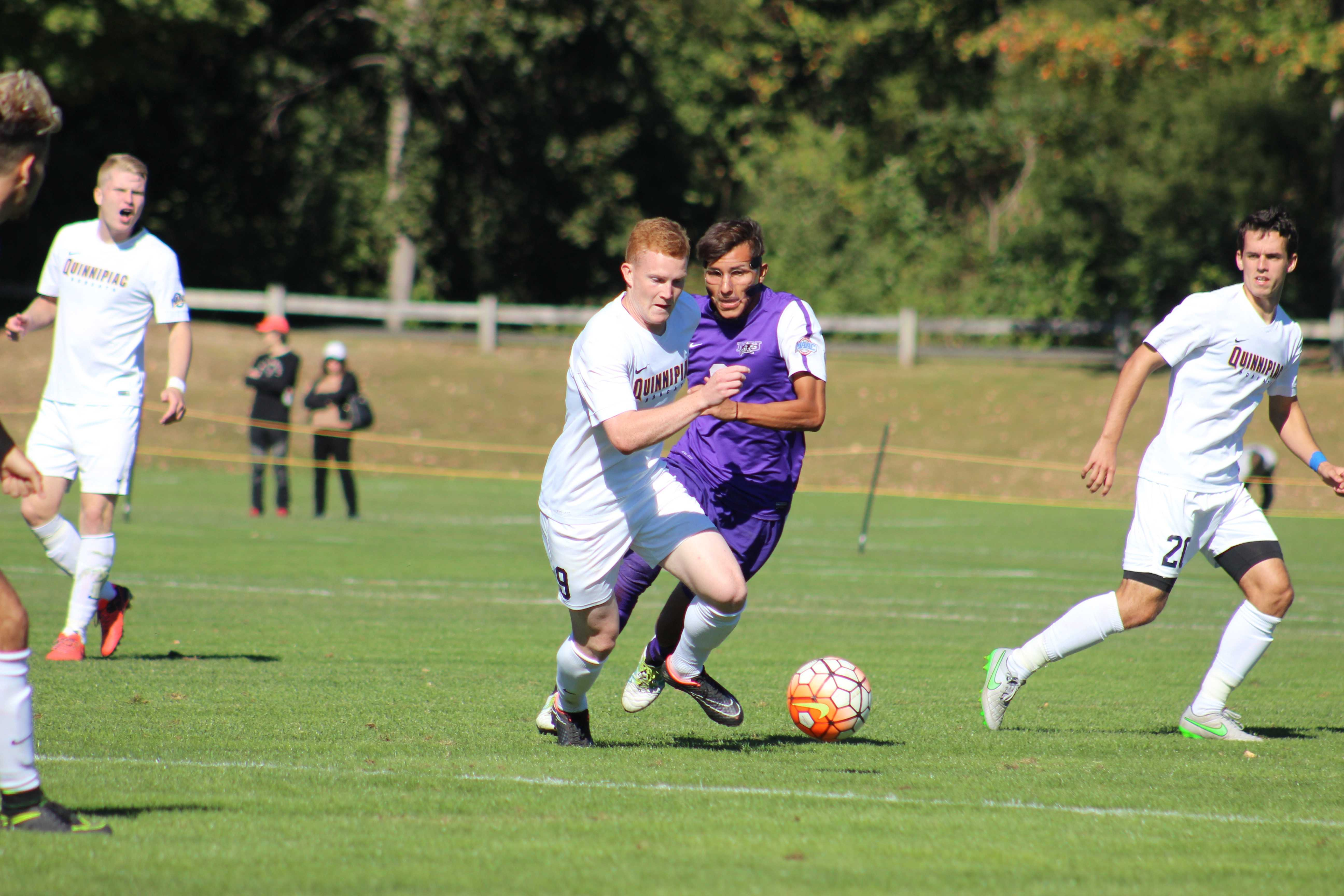 Men's soccer drops MAAC opener in OT