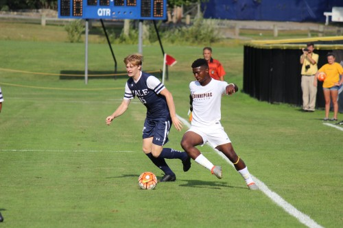 Men's soccer shuts out Yale