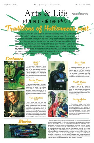 Traditions of Halloweens past