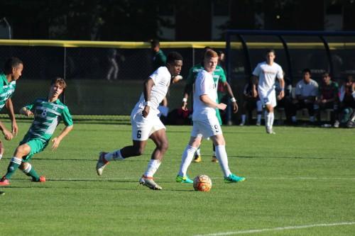 Men's soccer explodes for four goals against Manhattan