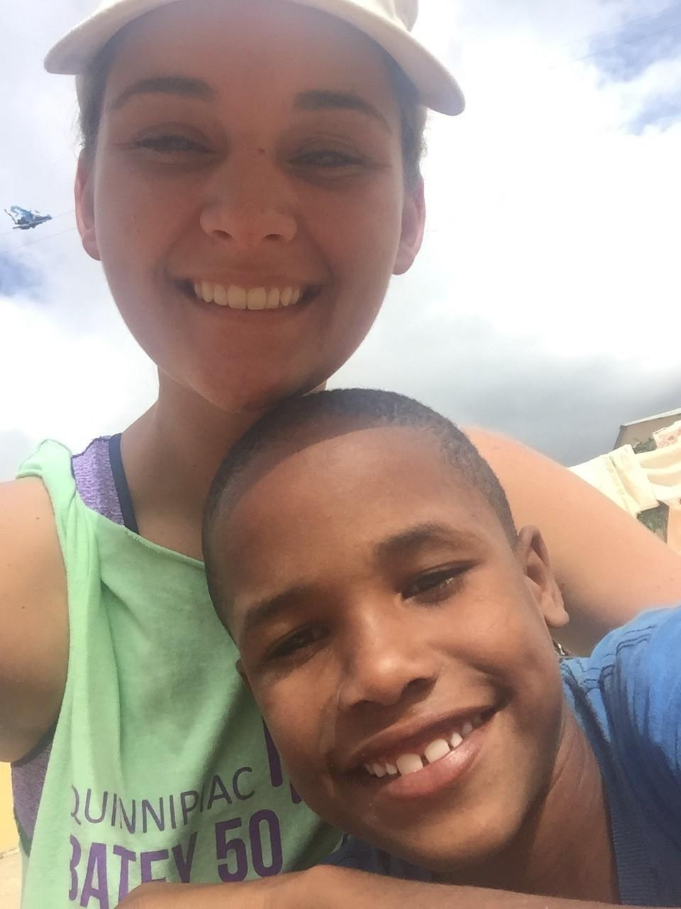 In January 2016, Corey Burke spent a week in the Dominican Republic for QU301. She became close with an 8-year-old named Frankie (above).