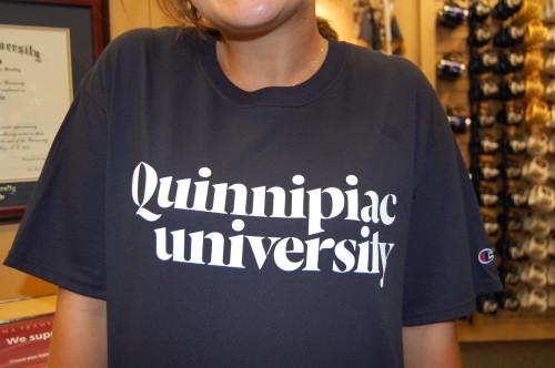 "The current Quinnipiac logo features a lowercase ""u,"" which has caused controversy within the student body."