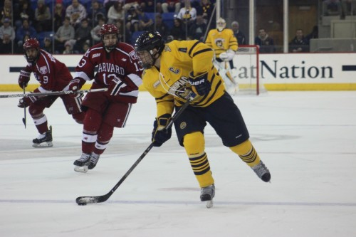 Men's ice hockey tops Harvard in ECAC title game rematch