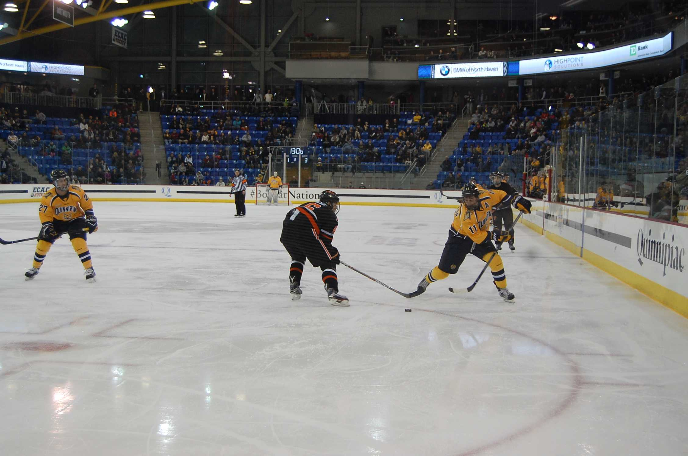 Quinnipiac men's ice hockey drops third straight, 4-1 to Princeton