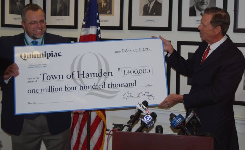 University donates $1.4 million to Hamden