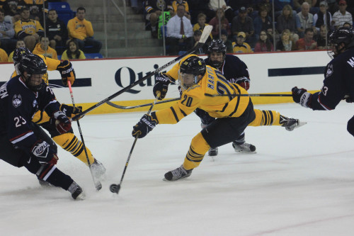 Martin making strides in sophomore season with men's ice hockey