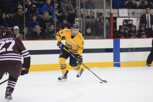Men's ice hockey team takes Game 2 at St. Lawrence