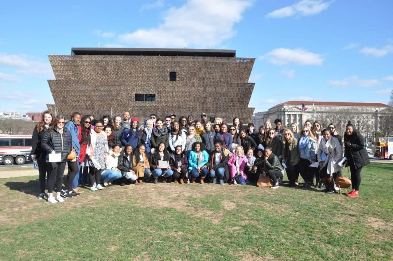 Students visit National Museum of African American History and Culture