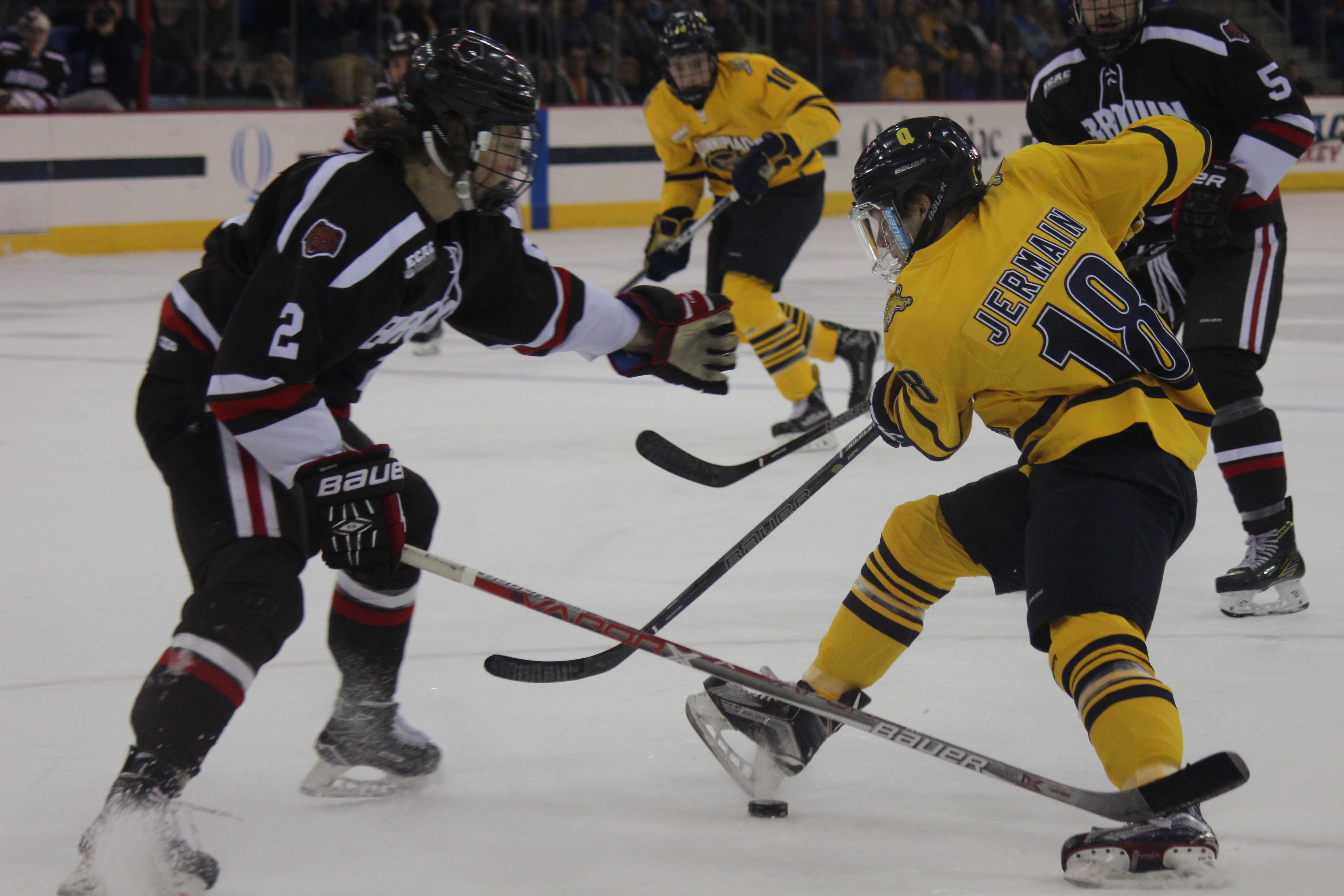 Men's ice hockey team prepares for Brown in ECAC Tournament First Round Series
