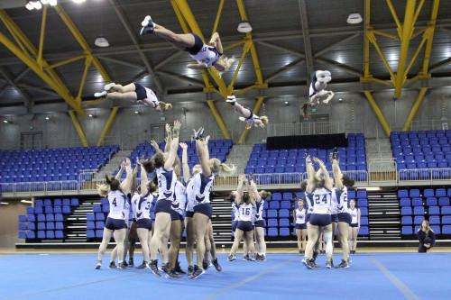 Quinnipiac+acrobatics+and+tumbling+dominates+Glenville+State