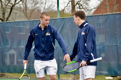 Axel Stern, Austin Yannone striving as pair in first season with men's tennis team