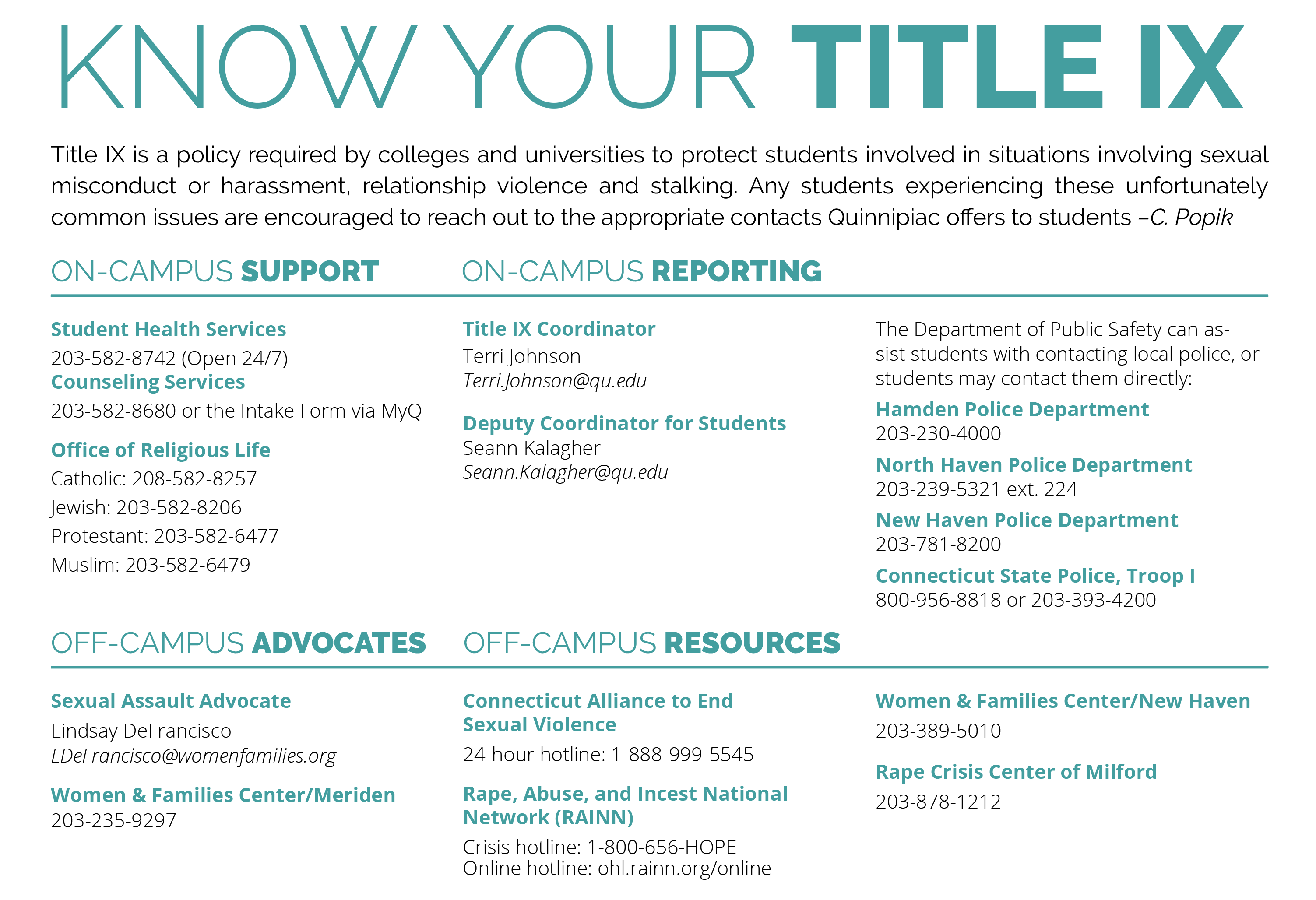 Know your Title IX