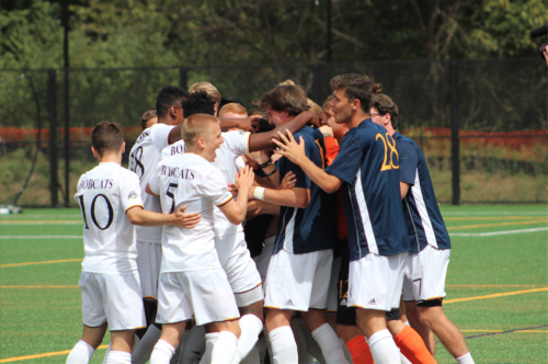 Quinnipiac men's soccer opens new field with victory over Saint Joseph's