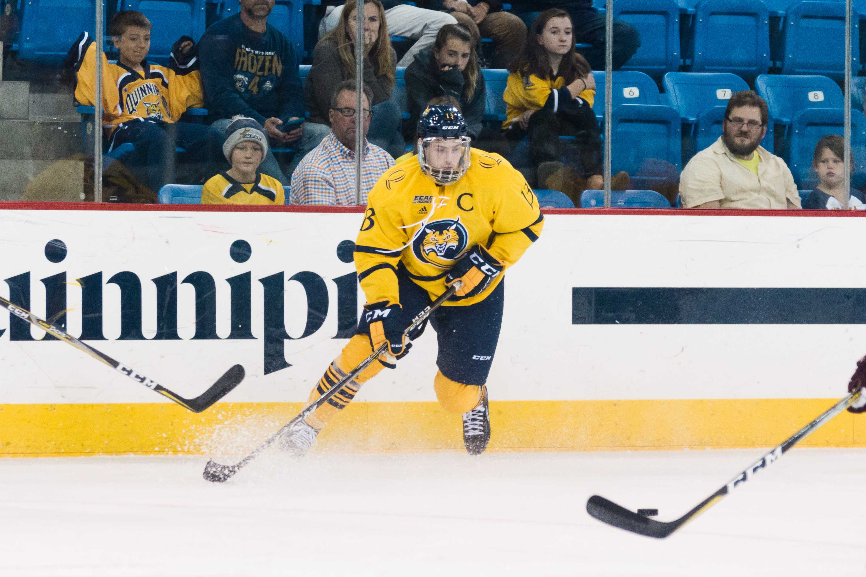 Quinnipiac men's ice hockey beats St. Mary's 3-2 in exhibition game