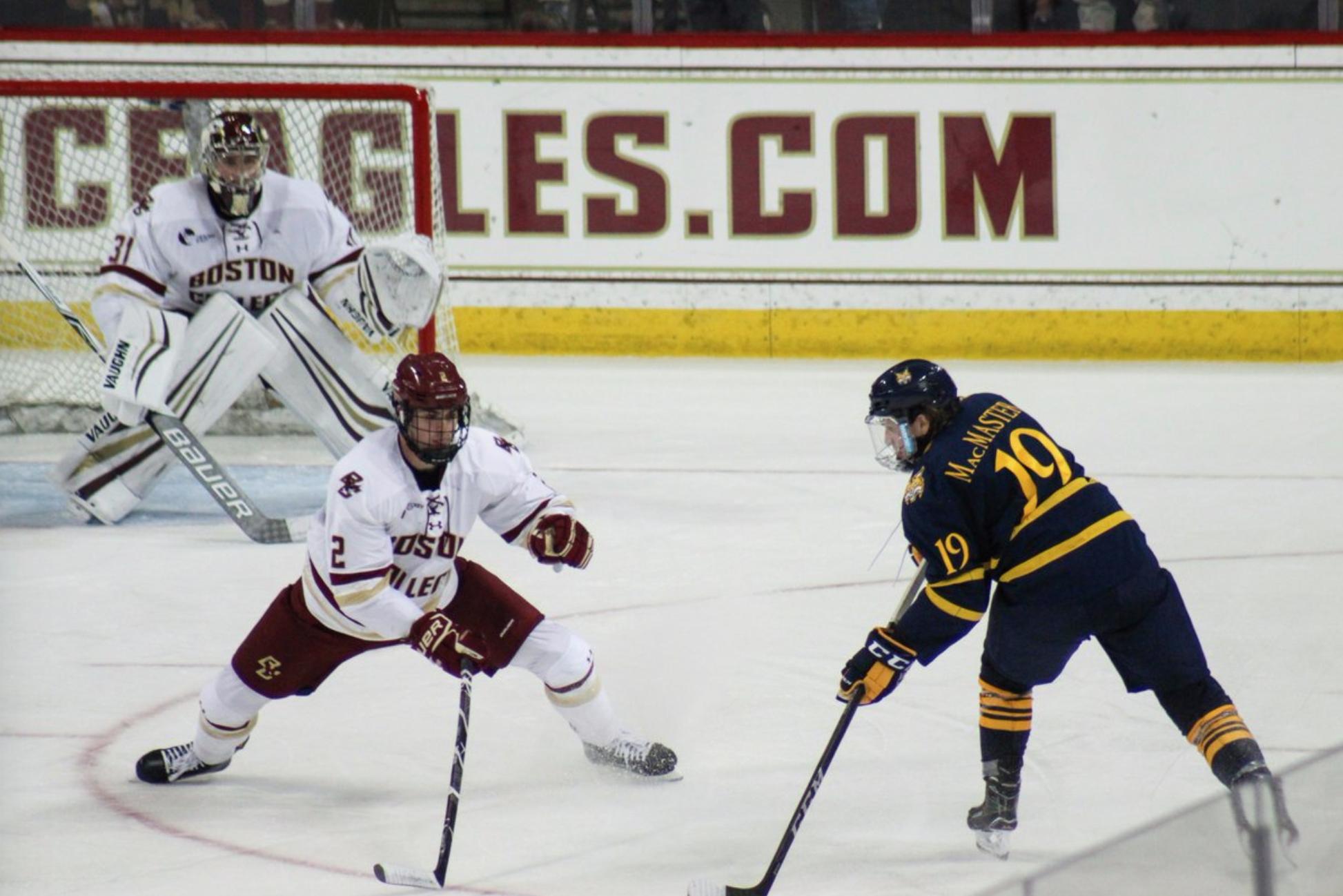 No. 14 Quinnipiac men's ice hockey ties No. 13 Boston College in season opener
