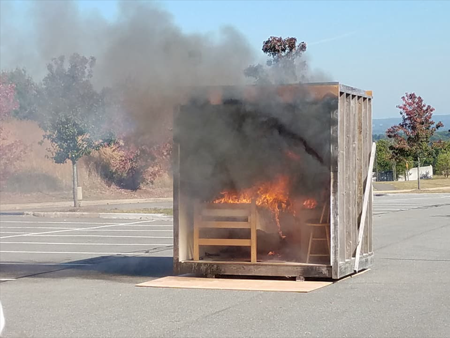 Mock fire teaches students the importance of safety