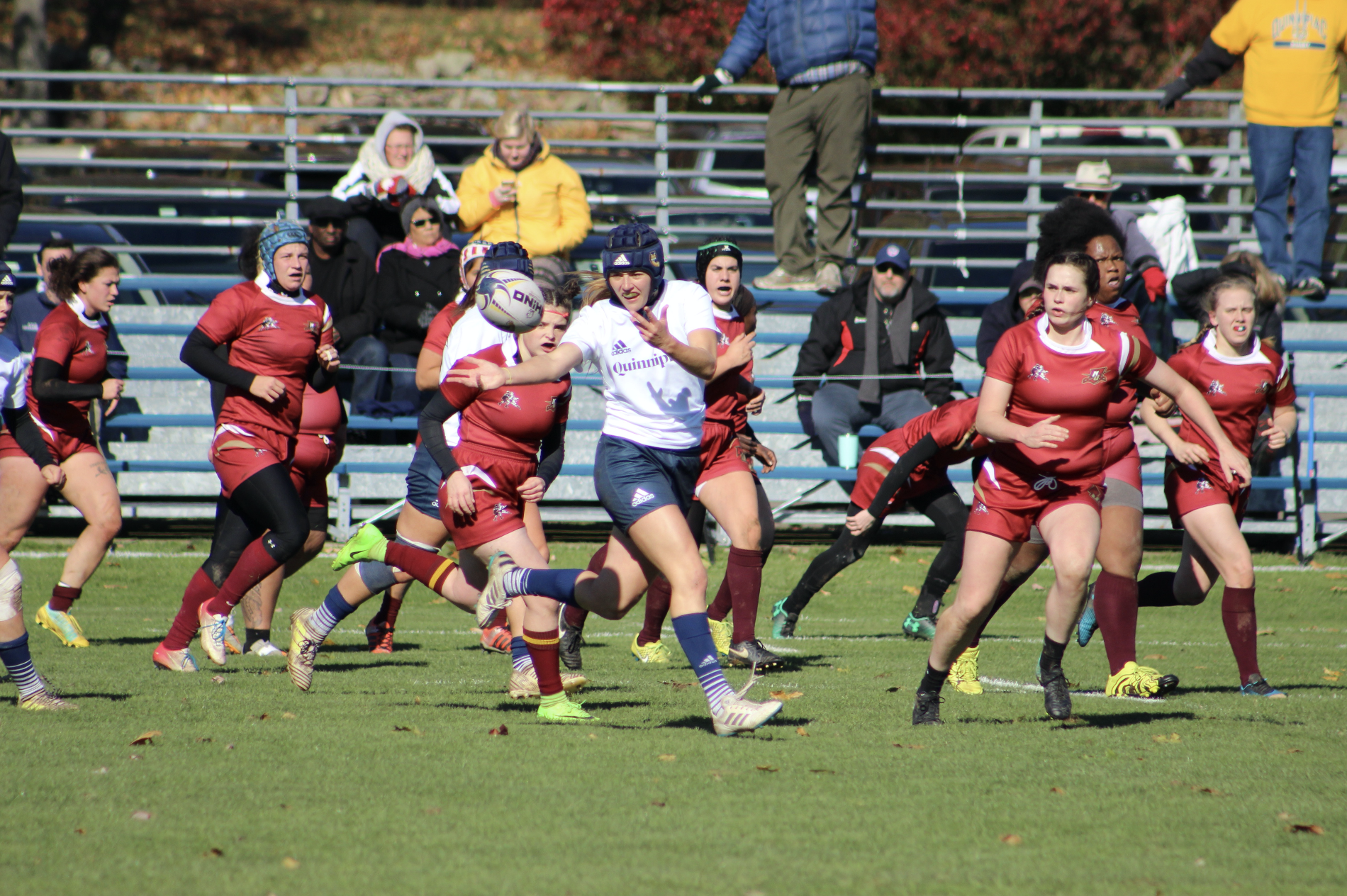 Quinnipiac rugby rolls past Norwich in NIRA quarterfinals