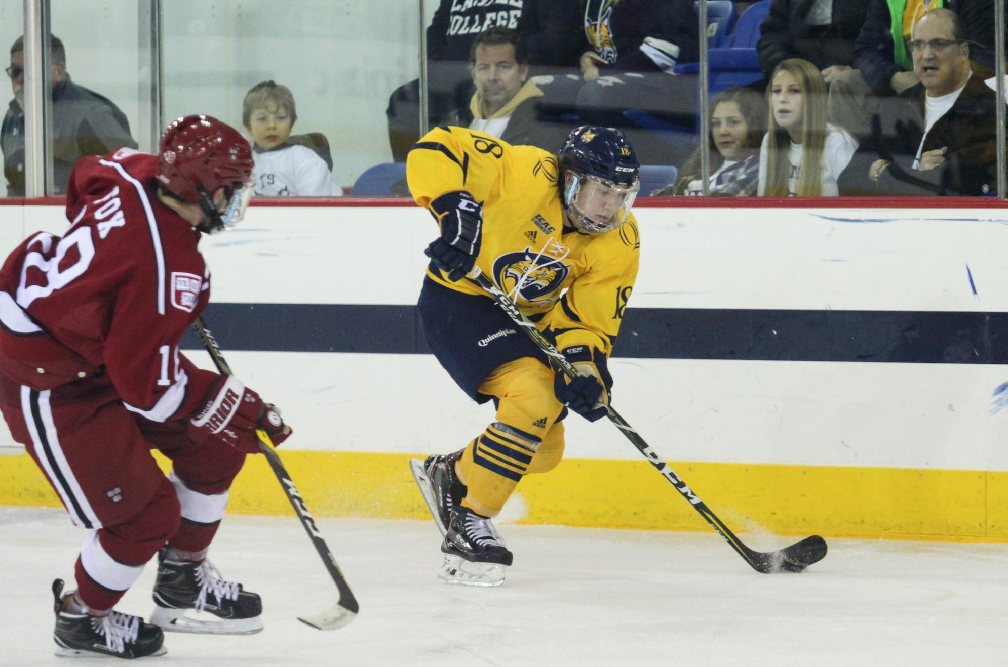 Quinnipiac men's ice hockey falls to Harvard