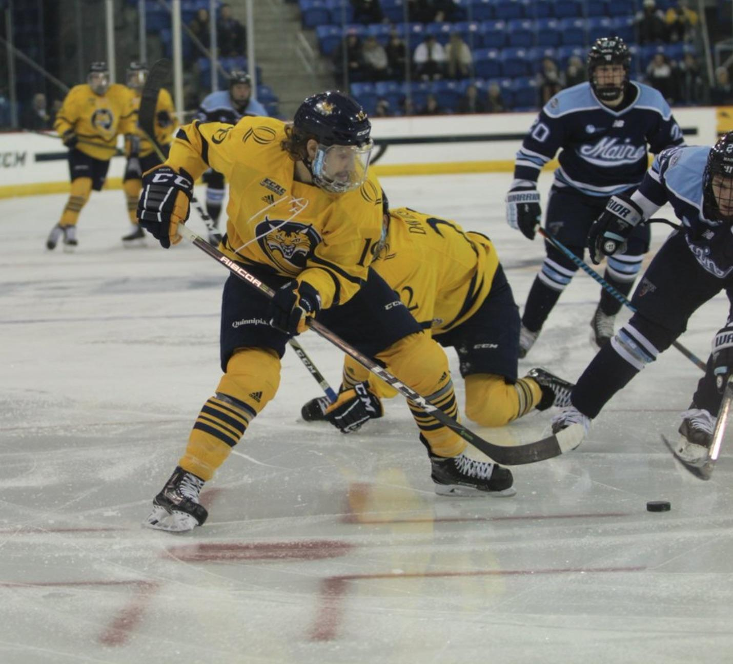 Quinnipiac men's ice hockey drops second in a row to Maine