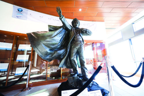 Life and teachings of Frederick Douglass honored with statue and exhibit