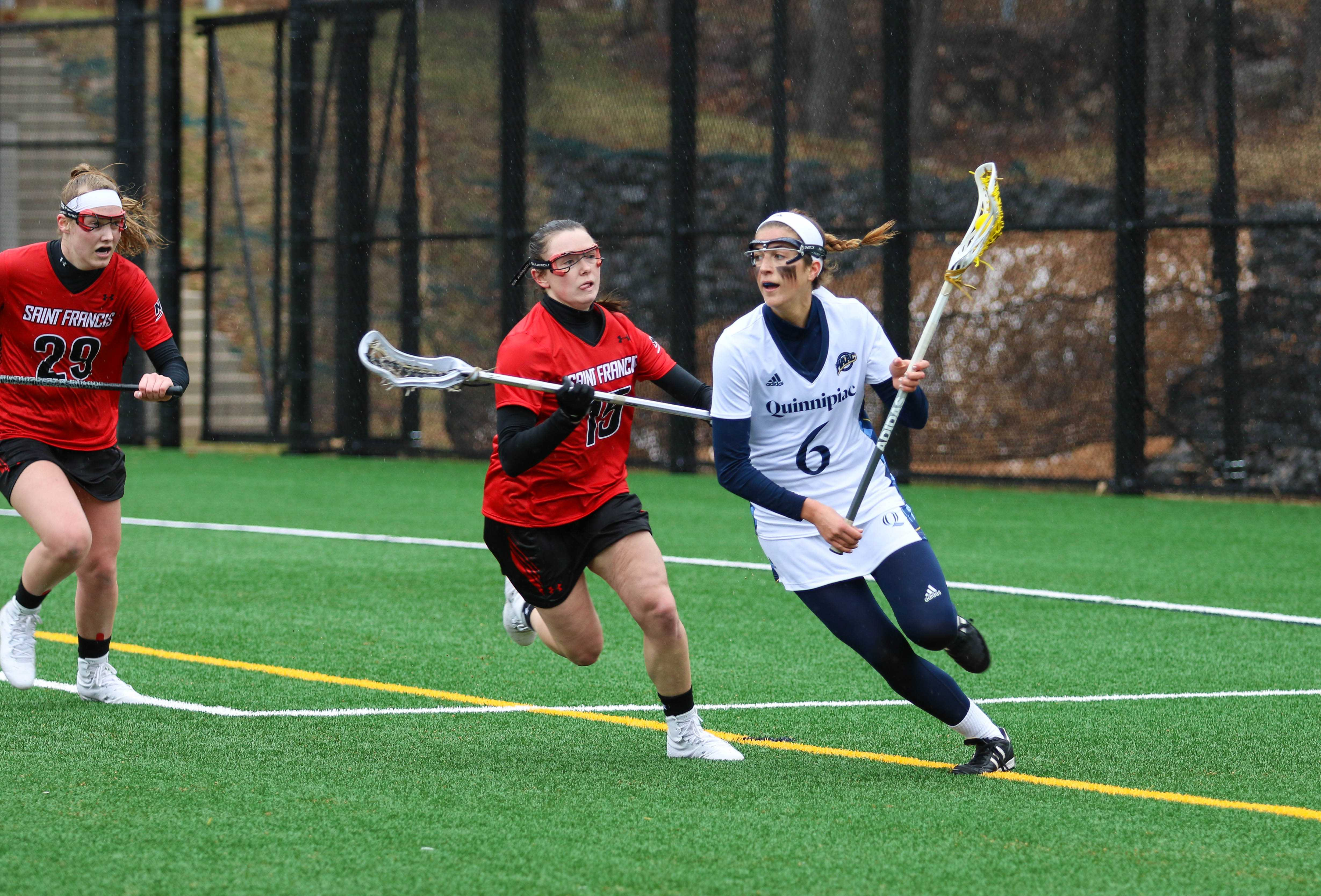 Quinnipiac women's lacrosse gets first win of the season over Saint Francis