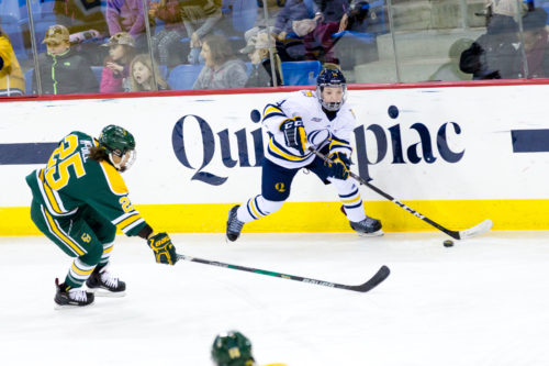 Quinnipiac+women%27s+ice+hockey+loses+to+No.+1+Clarkson+at+home%2C+2-0