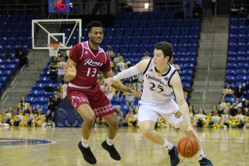 Quinnipiac men's basketball drops MAAC battle with Rider, 74-59
