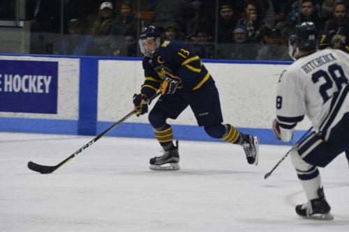 Quinnipiac men's ice hockey strikes first in series, beats Yale 5-1