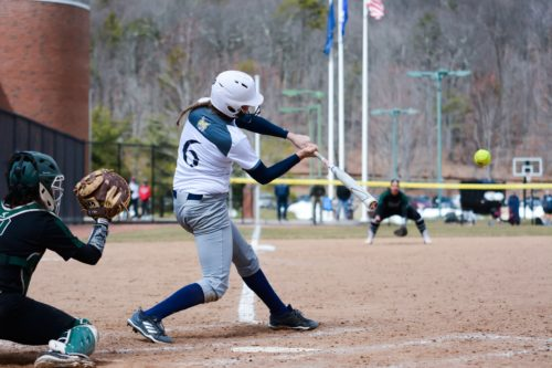 Softball splits doubleheader with Wagner in home opener