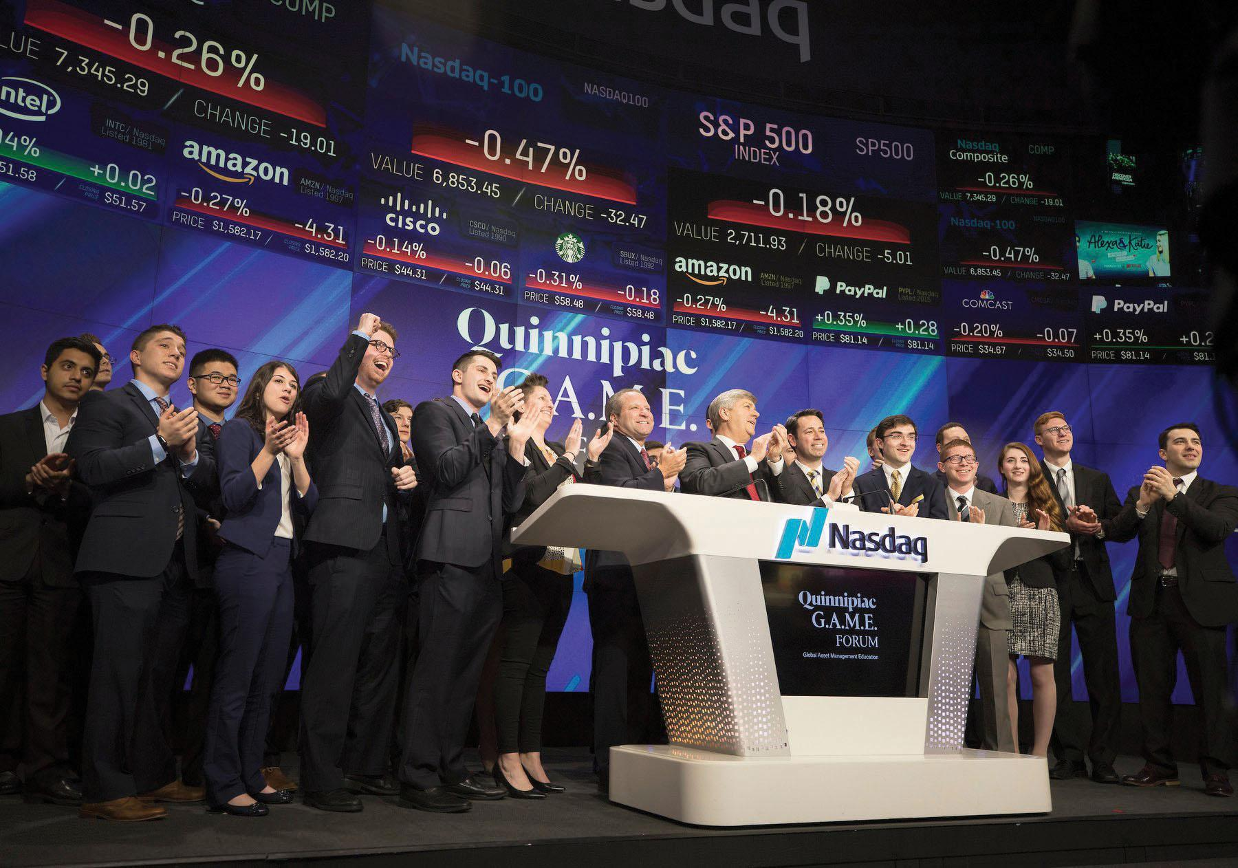 School of Business holds eighth annual G.A.M.E Forum with NASDAQ
