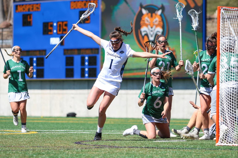 Quinnipiac women's lacrosse gets first MAAC win over Manhattan