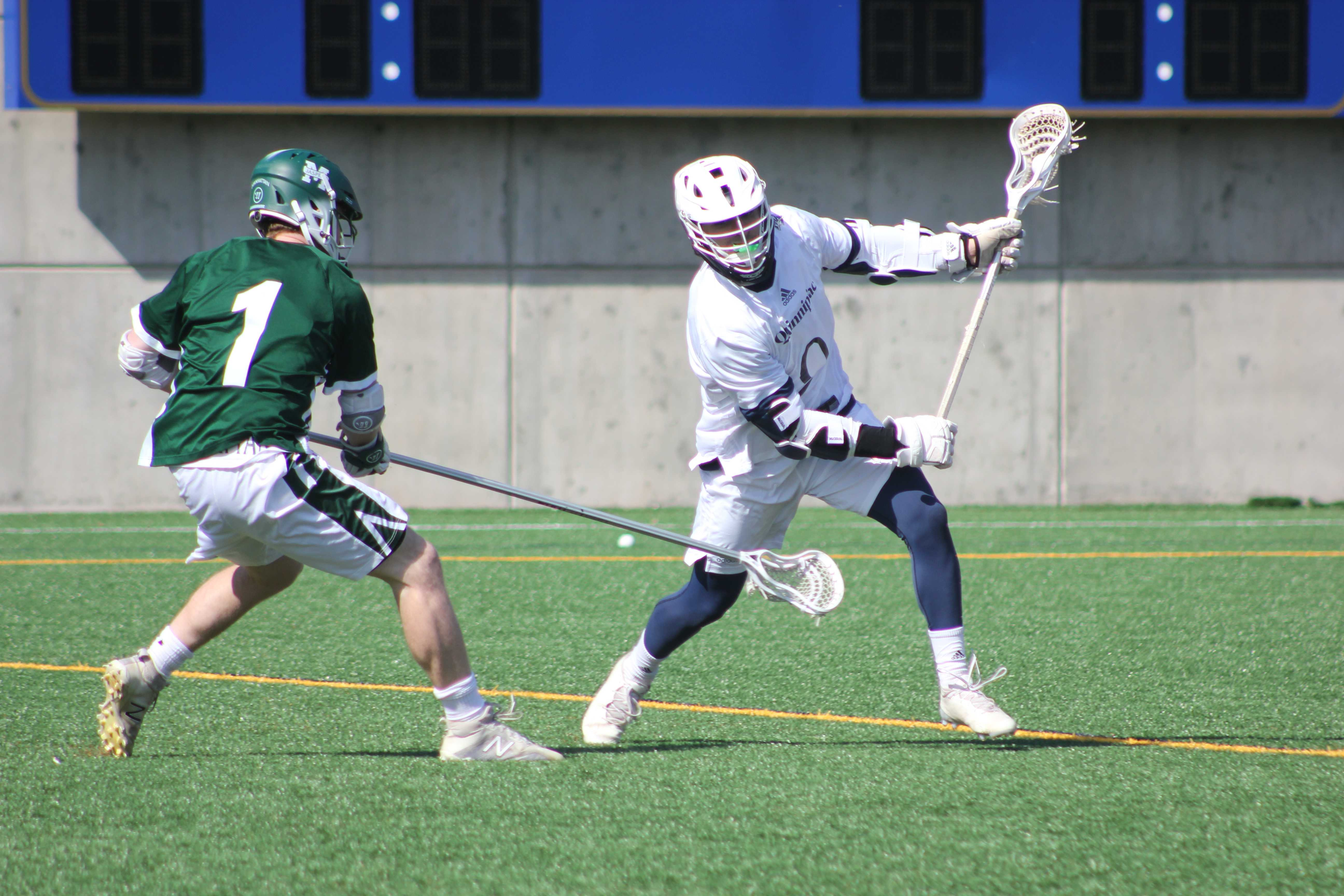 Quinnipiac men's lacrosse defeats Manhattan 9-5, stays unbeaten in the MAAC