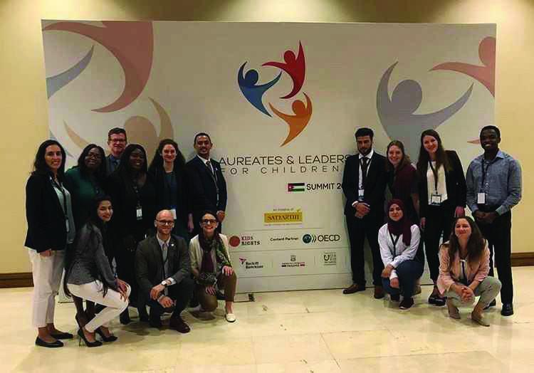 Students attend international summit in Jordan