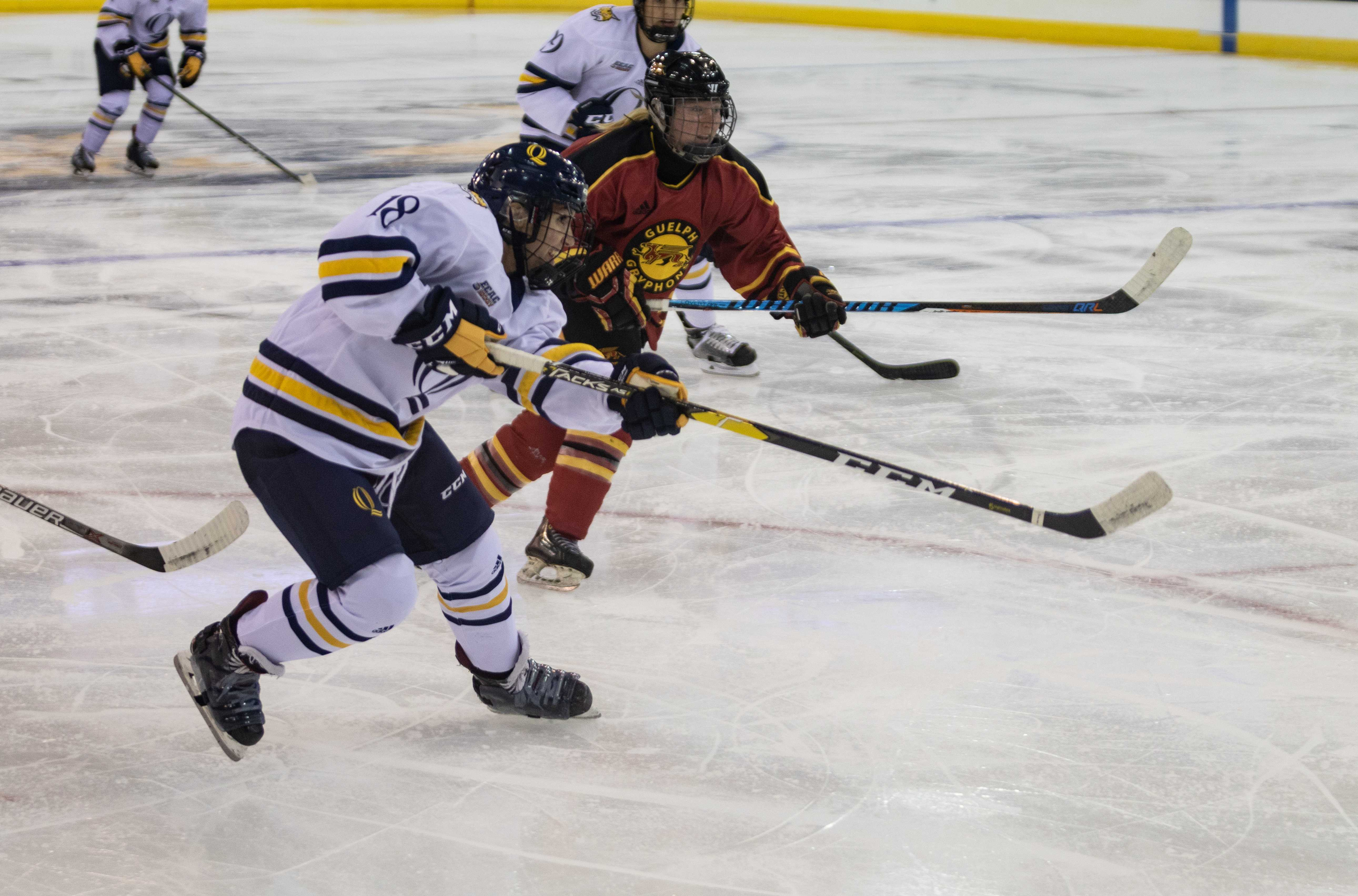 Quinnipiac women's ice hockey rolls past Guelph in exhibition game