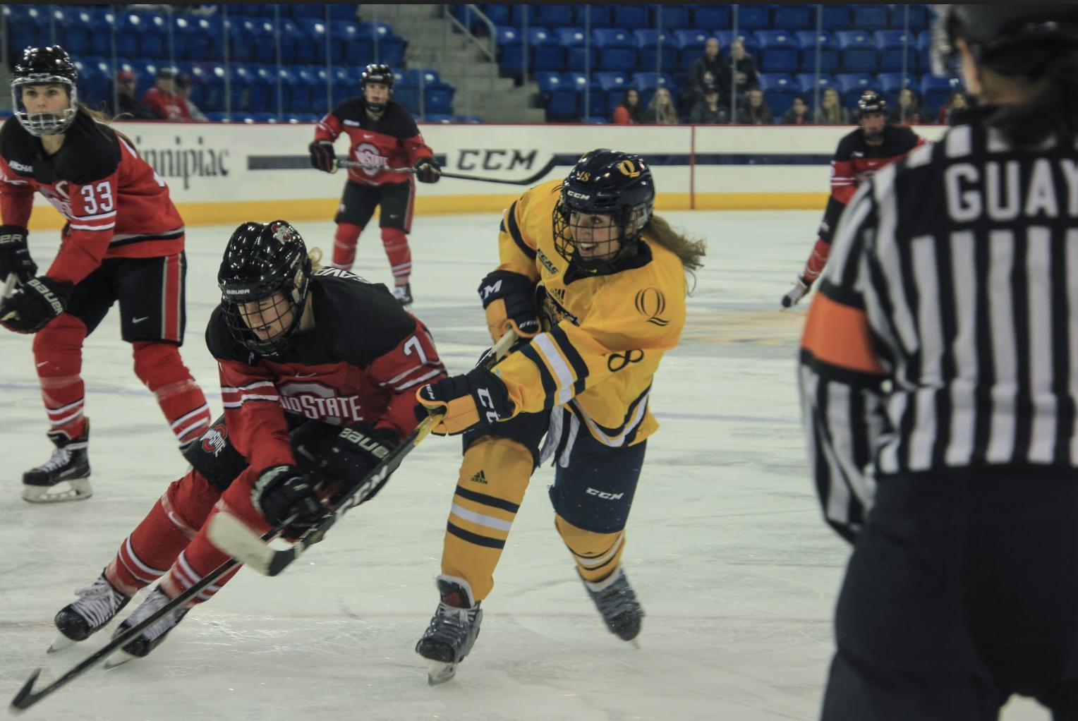 No. 7 Ohio State edges Quinnipiac women's ice hockey, 3-2